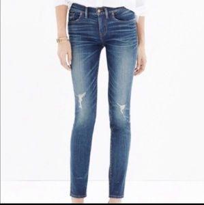 Madewell Skinny Skinny Distressed Blue Jeans 28